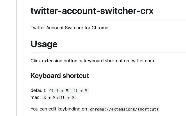 Twitter Account Switcher