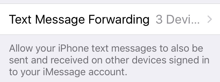 Text Message Forwarding