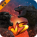 Godzilla & Kong 2021: Angry Monster Fighting Games icon