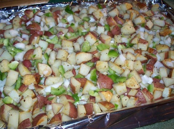 Once the potatoes are slightly browned and veggies are tender remove from heat and...