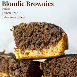 Peanut Butter Blondie Brownies.