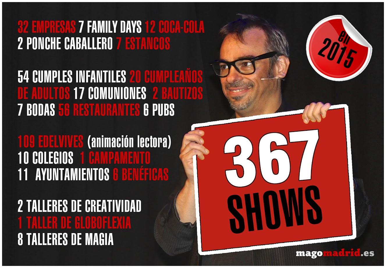367 shows de mago madrid en 2015
