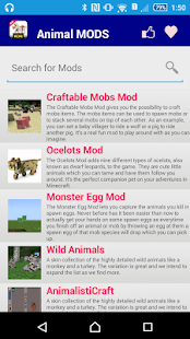Animal Mod For MCPE. screenshot