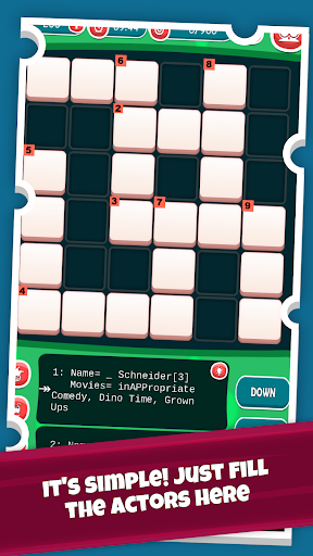 Code Triche Actors Crossword Puzzle Game, Guess Hollywood Name APK MOD screenshots 2