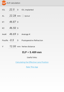 ELP Calculation /Ophthalmology- screenshot thumbnail
