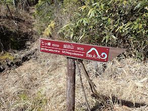 登山口の標識