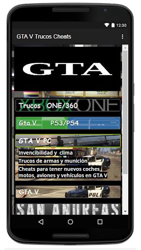 Trucos Cheats para GTA5 2.0 screenshots 3