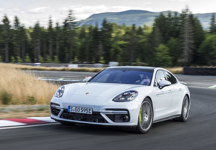 The Panamera Turbo S E-Hybrid has rewritten the rule book of sports cars, let alone executive sedans. Picture: PORSCHE/FRANK RATERING