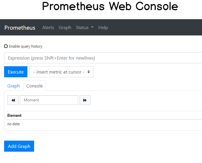 Prometheus Web Console