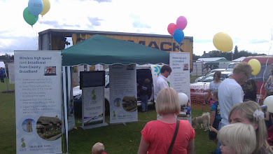 Photo: High speed broadband is now available to most of the village. The side-line in balloons seemed to be more popular.