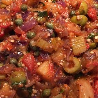 Eggplant Caponata (Sicilian Version).