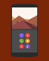 Screenshot of Naxos Flat Round Icon Pack