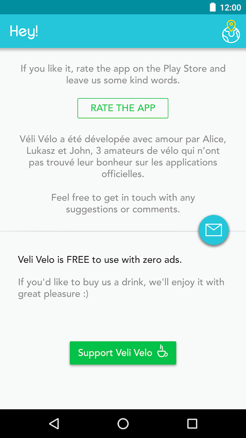 Veli Velo - Bike sharing- screenshot