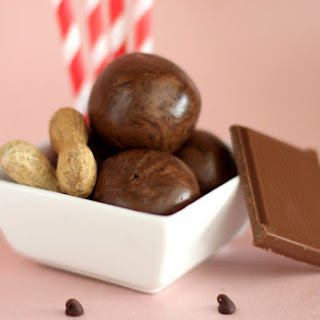 Healthy Chocolate Peanut Butter Protein Balls.
