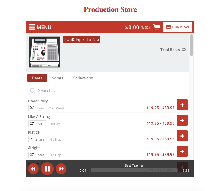 Buy Beats Online On Your Phone- screenshot