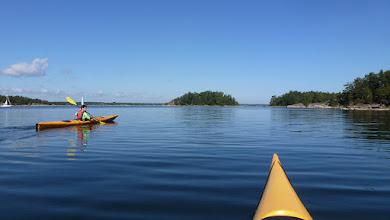 Photo: Easy paddling on a calm sea
