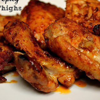 Sweet and Spicy Chicken Thighs.