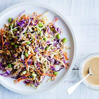 Rainbow Salad with Spicy Peanut Dressing.