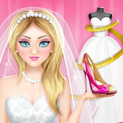 Juegos de diseñar vestidos de novia y zapatos
