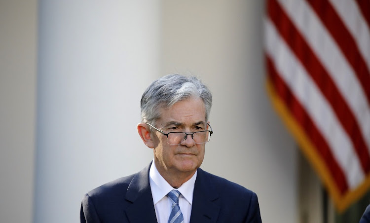 US Federal Reserve chair Jerome Powell. Picture: REUTERS/CARLOS BARRIA