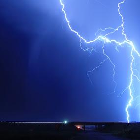 Idaho Lightning by Gerrit Gulden - Landscapes Weather ( lightning, thunderstorm, weather )