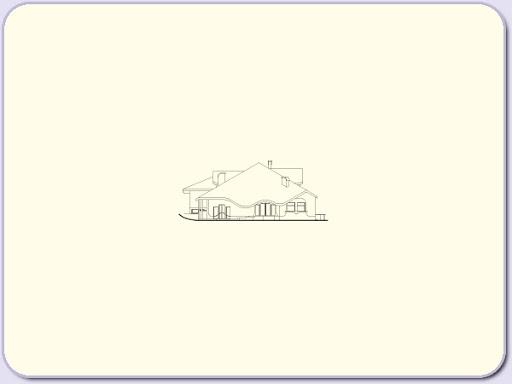 Almandyn - Elewacja lewa