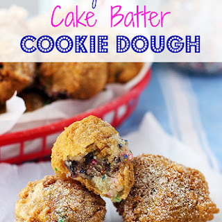 Deep Fried Cake Batter Cookie Dough
