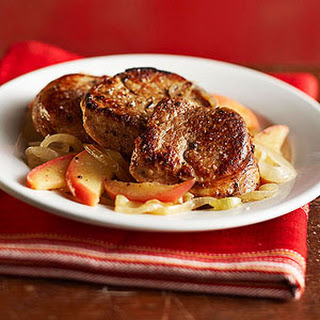 Pork Tenderloin with Apples and Onions.