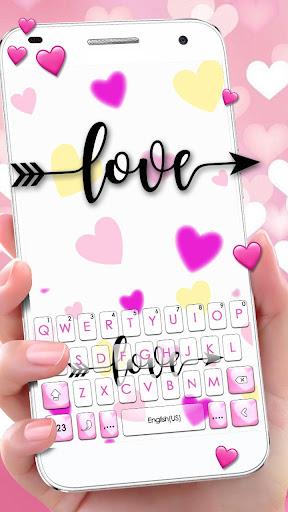 Love Hearts Arrow Keyboard Theme 1.0 screenshots 1