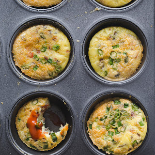 Whole30 Prosciutto, Pepper, Mushroom Egg Muffins.