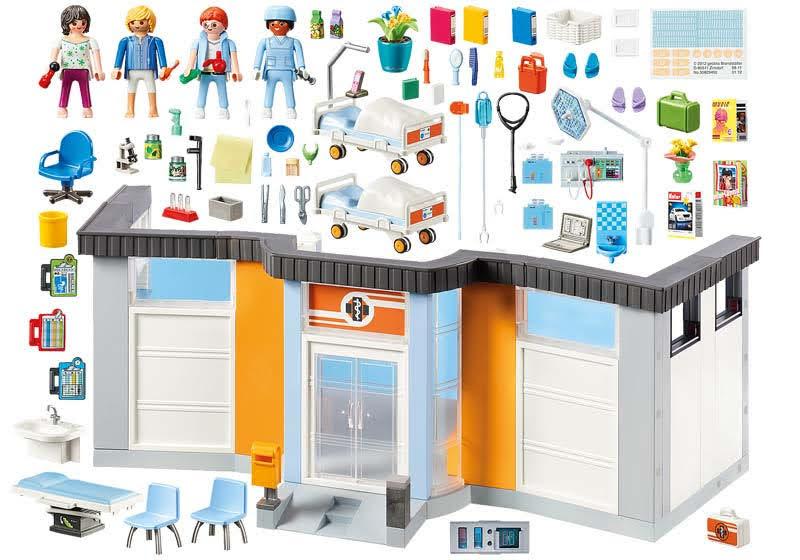 Contenido Real de Playmobil® 70191 Planta de Hospital