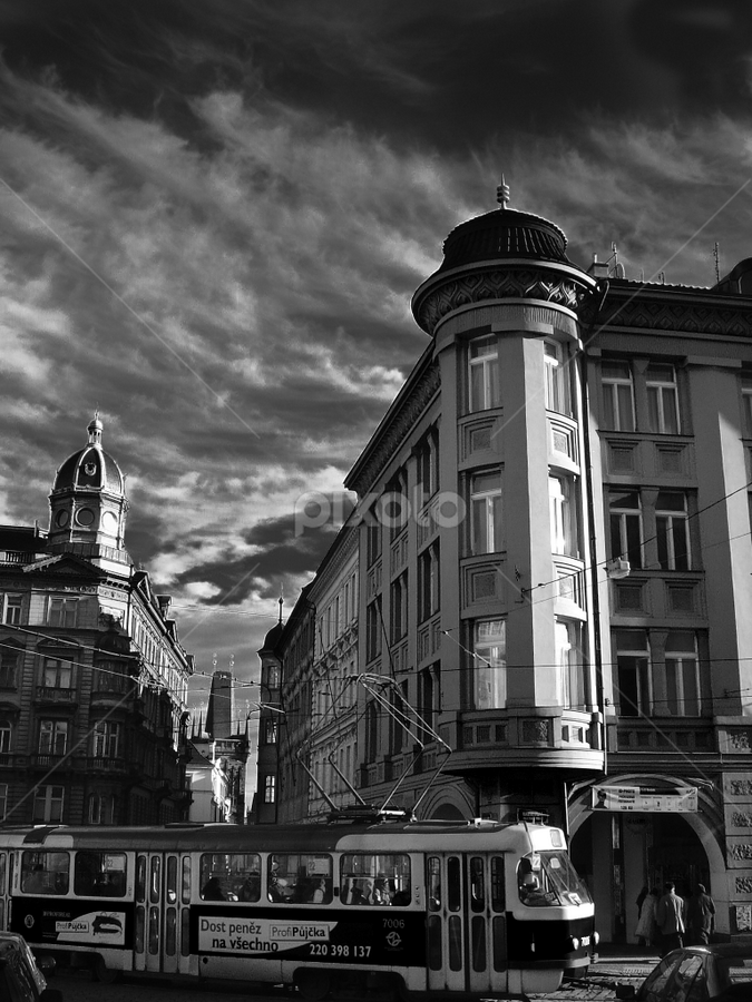 Prague of Magic (B&W version) by Mpampis Mantoukas - City,  Street & Park  Street Scenes
