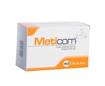 Meticom 250/80 Cápsulas   Caja X40Cap. Novex Carbón Activado Simeticona
