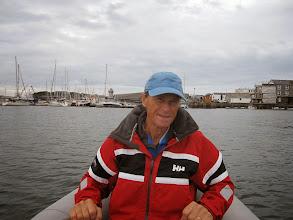 Photo: Rowing Andreas ashore in Falmouth.