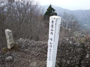 西峰山頂標識