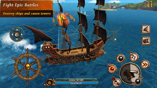Ships of Battle - Age of Pirates - Warship Battle  screenshots 7