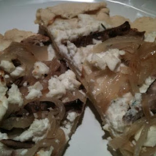 Mushroom, Onion and Goat Cheese Pizza