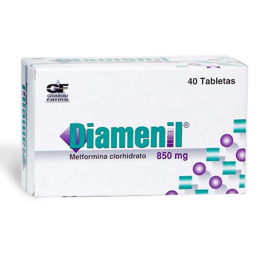 Metformina Diamenil 850 mg x 40 Tabletas