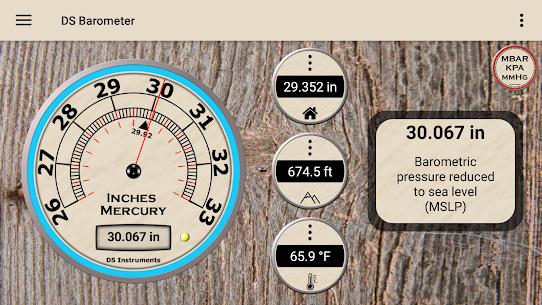 DS Barometer – Altimeter and Weather Information 2