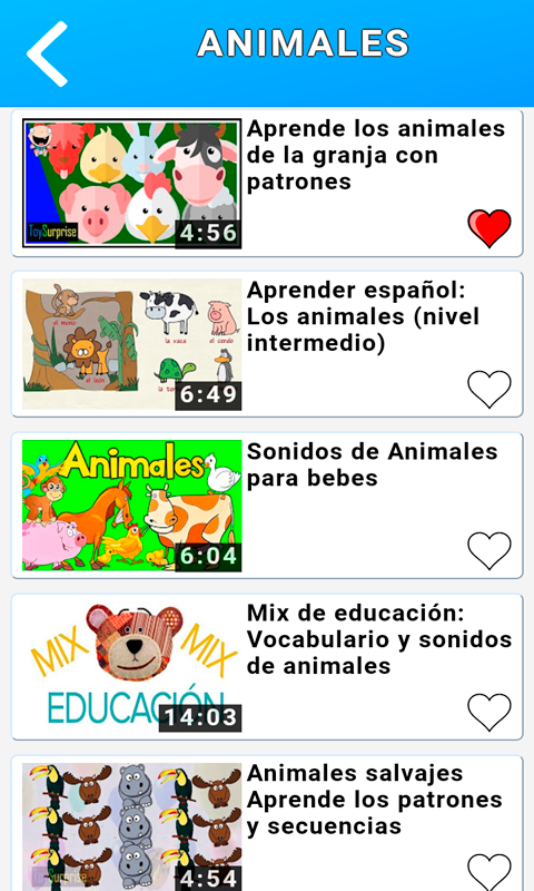 Spanish for Kids & Adults Videos Free- screenshot