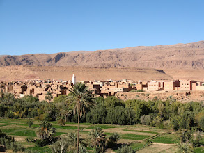 Photo: The oasis town of Boumaine Dades heading north towards the Gorges of Dades