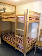 Photo: Une chambre avec lits superposés