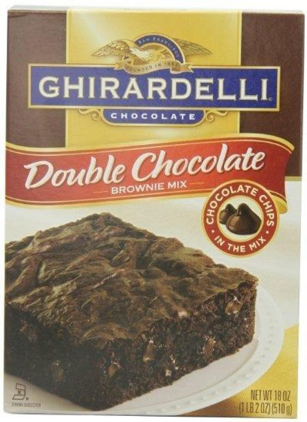 Mix Your chocolate brownies according to package adding a teaspoon espresso powder. After mixed...