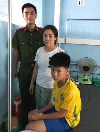 Cháu: Lê Anh Phong đang điều trị tại Bệnh viện
