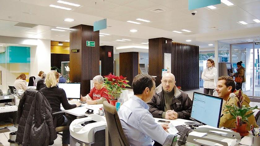 Una oficina financiera en la provincia de Almería.