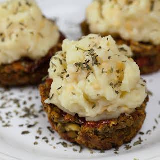 Vegan Italian Meatloaf Cupcakes.