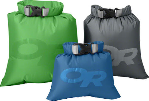 Outdoor Research Dry Ditty Sack, Set of 3, Assorted Colors, 1, 2.5, and 3L