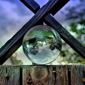 storm on the fence by Bruce Newman - Artistic Objects Glass ( artistic objects, glass, artistic, photography,  )