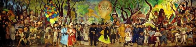 Diego Rivera Sueño de una tarde en la Alameda Central.