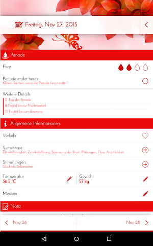 android Perioden-Tagebuch - Kalender Screenshot 17